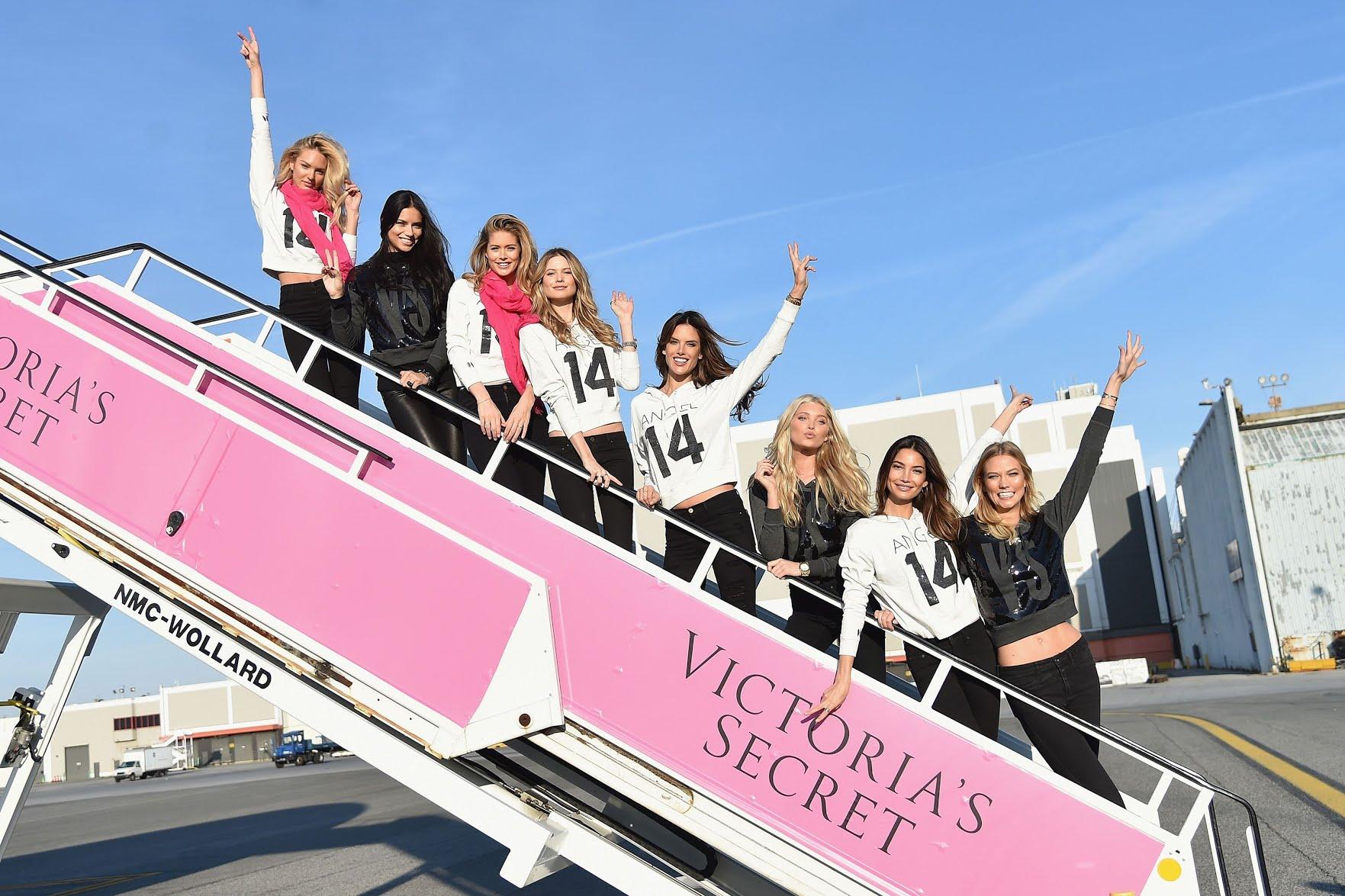Victoria's Secret model plane