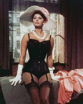 Sophia Loren suspenders